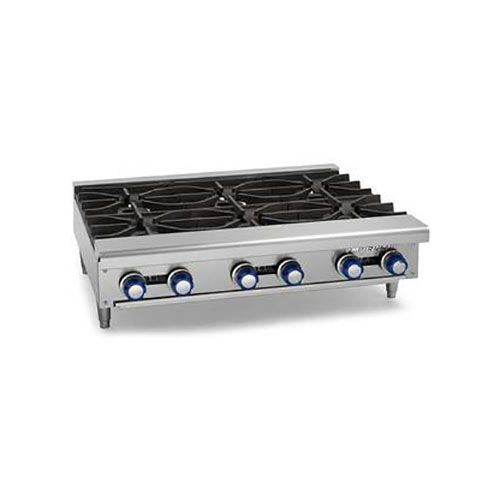 Imperial IHPA-6-36, Countertop Gas Open Burner Hot Plate, CSA, NSF, CE