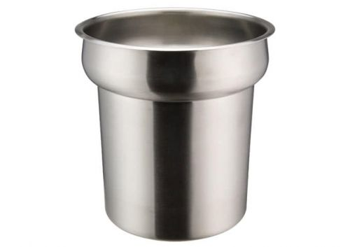 Winco INSN-4 4 Qt Stainless Steel Round Inset