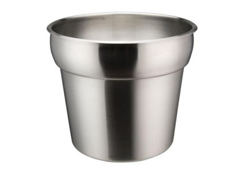 Winco INSN-7 7 Qt Stainless Steel Round Inset