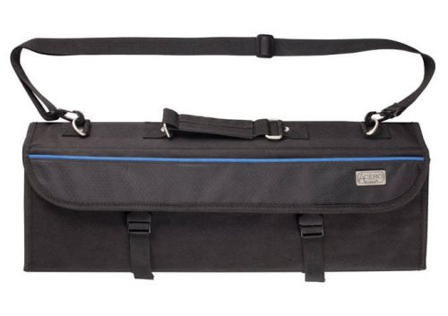 Winco KBG-11, 11-slots Polyester Cutlery Knife Bag with Handle, Black