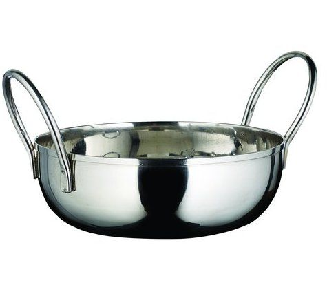 Winco KDB-5, 20-Ounce Kady Bowl with Welded Handles, Stainless Steel