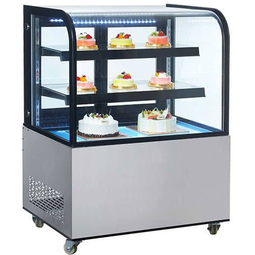 Marchia MB36 36-inch Floor Model Curved Glass Refrigerated Display Case