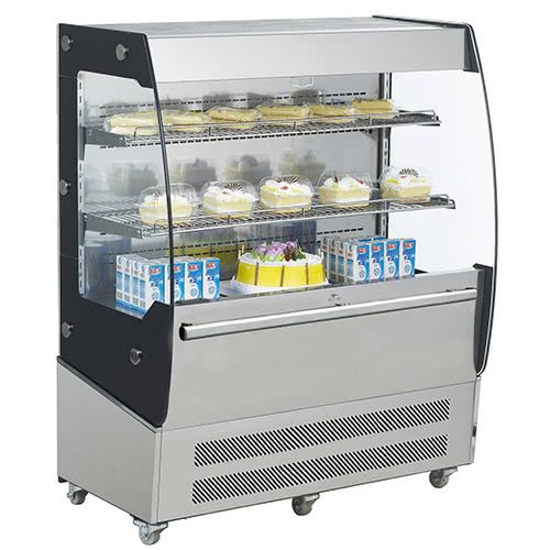 Marchia MDS200 40-inch Open Air Refrigerated Display Merchandiser, 49-inch Height S/S