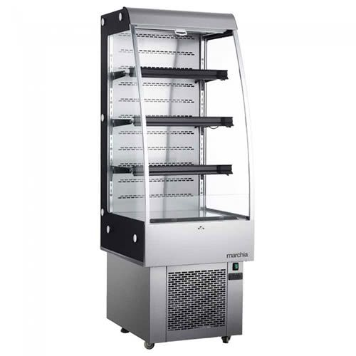 Marchia MDS250 24-inch Open Air Refrigerated Display Merchandiser, 76-inch Height S/S