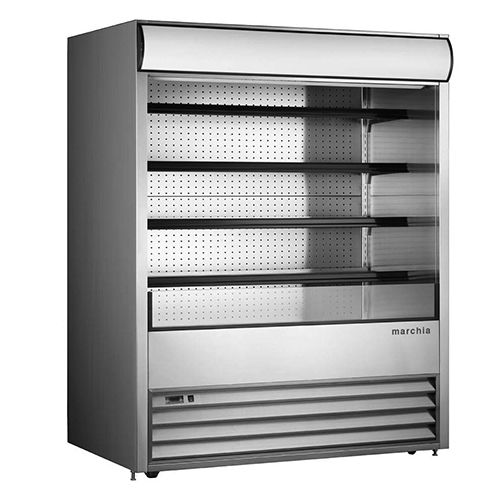 Marchia MDS72 72-inch Open Refrigerated Display Merchandiser, 81.5-inch Height S/S 220V