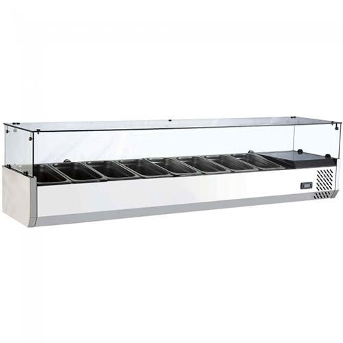 Marchia MTR8 80-inch Refrigerated Countertop Salad Bar, Topping Rail