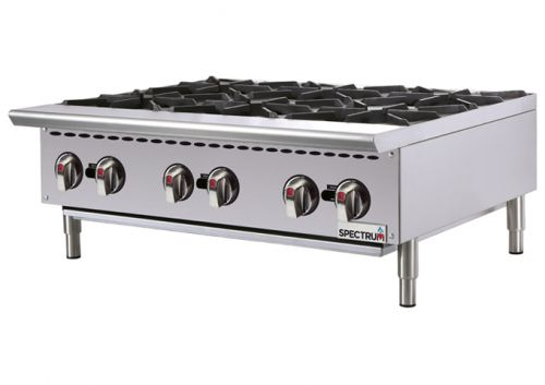 Winco NGHP-6, 36-Inch 6-Burner Spectrum Gas Hot Plate, 36? Wide