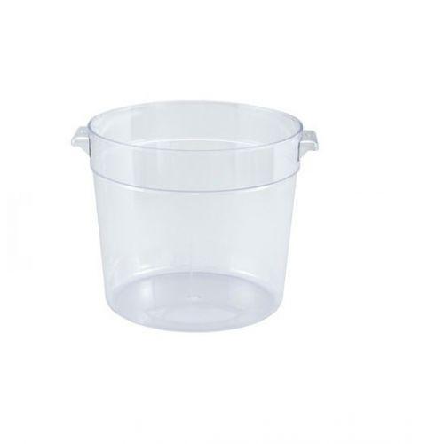 Winco PCRC-1, 1-Quart Polycarbonate Round Storage Container, NSF