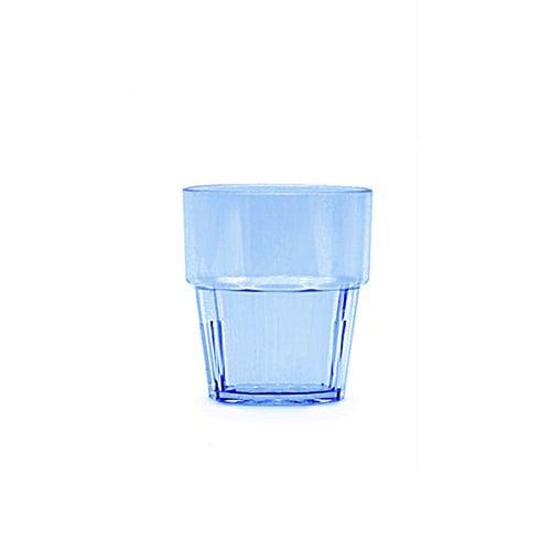 Thunder Group PLPCTB108BL 8 Oz Diamond Polycarbonate Blue Rock Glasses, DZ