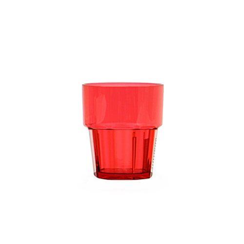 Thunder Group PLPCTB108RD 8 Oz Diamond Polycarbonate Red Rock Glasses, DZ