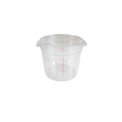 Thunder Group PLRFT306PC, 6-Quart Polycarbonate Round Food Storage Container, Clear