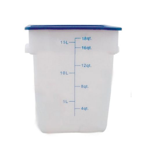 Thunder Group PLSFT018PP 18-Quart Plastic Square White Food Storage Containers, Lids are sold separately