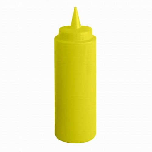 Thunder Group PLTHSB024Y, 24-Ounce Polycarbonate Squeeze Bottle, Yellow