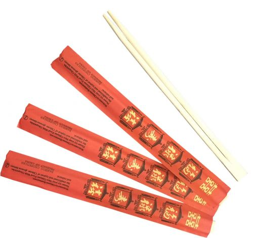 RCHOP 8.75-inch Bamboo Chopsticks in Red Individual Wrapping, 300/CS