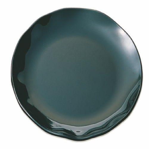 Thunder Group RF1020BW 20 Inch Western Black Pearl Round Melamine Two Tone Black Dinner Plate, EA