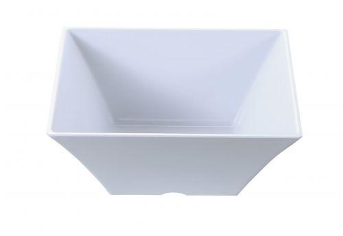 Yanco RM-4112 8 Qt 12x5-Inch Rome Melamine Deep Square White Bowl, 6/CS