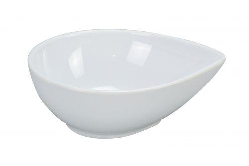 Yanco RM-704 4 Oz 4x3.5x1.5-Inch Rome Melamine Round Waterdrop Shape White Dish, 72/CS