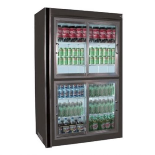 Universal Coolers RW-54 54x30x75-Inch Beverage Cooler, Glass Sliding Doors, Remote
