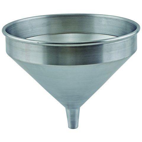 Winco SAF-4, 2 qt Spun Aluminum Funnel, 9-1/8