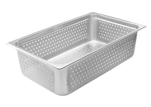 Winco SPJH-106PF,Perforated Steam Pan, Full-Size 6-inch, 22 Gauge Stainless Steel, NSF