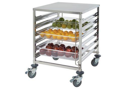 Winco SRK-12D 12-Tier Stainless Steel Food Pan Rack