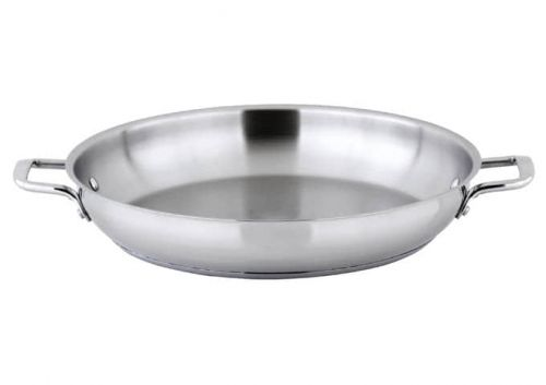 Winco SSOP-14, 14-Inch Dia Try-Ply Stainless Steel Omelet Pan w/о Lid, 2 Handles, NSF (Discontinued)