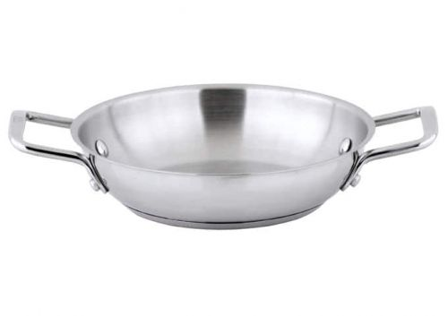 Winco SSOP-8, 8-Inch Dia Try-Ply Stainless Steel Omelet Pan w/о Lid, 2 Handles, NSF (discontinued) (Discontinued)