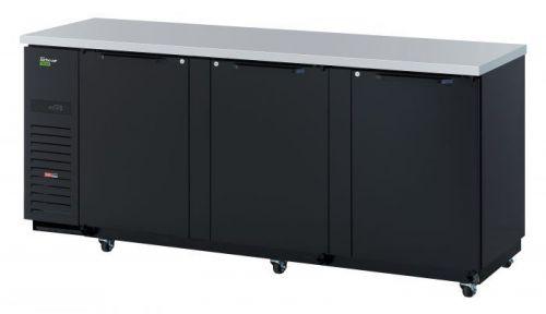 Turbo Air TBB-4SBD-N6 90-inch Underbar 3 Solid Doors Back Bar, Black Vinyl Exterior