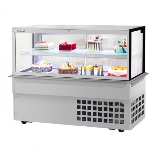 Turbo Air TBP60-46FDN, 59-inch 2 Tiers Refrigerated Bakery Case, Front Open, Drop-in