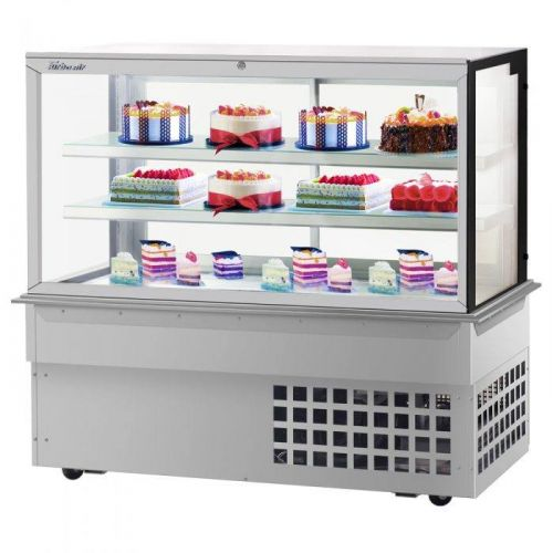 Turbo Air TBP60-54FDN, 59-inch 3 Tiers Refrigerated Bakery Case, Front Open, Drop-in