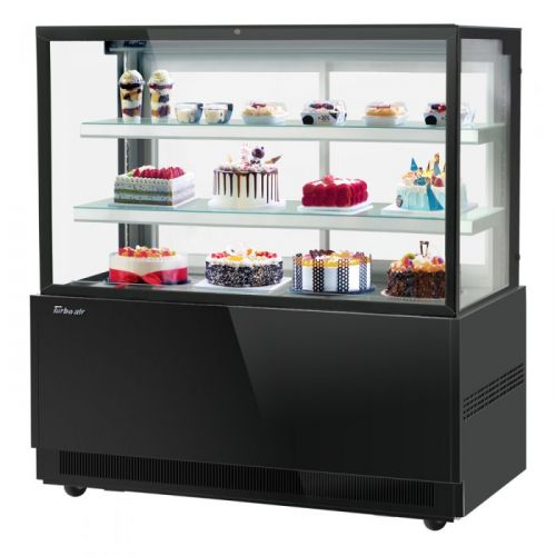 Turbo Air TBP60-54FN-B, 59-inch 3 Tiers Black Refrigerated Bakery Case, Front Open