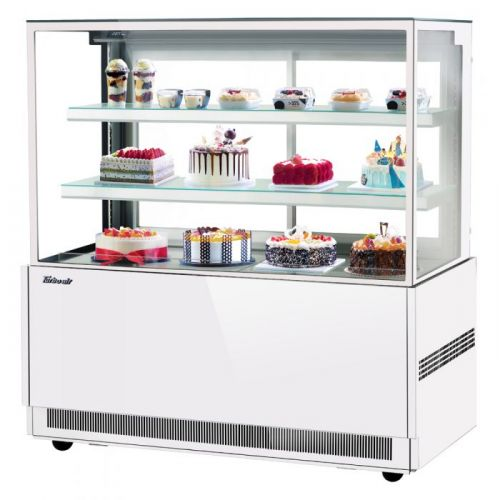 Turbo Air TBP60-54NN-W, 59-inch 3 Tiers White Refrigerated Bakery Case