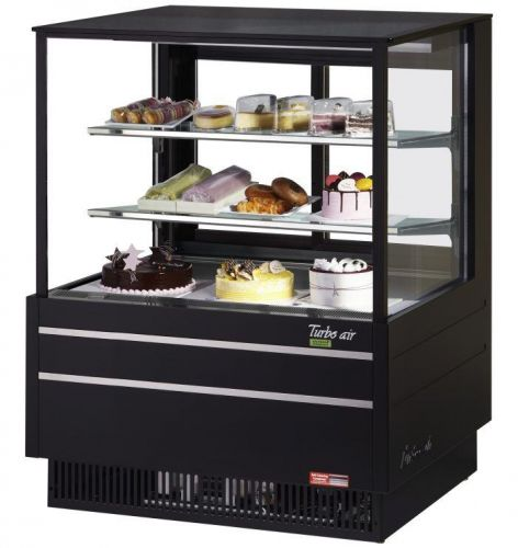 Turbo Air TCGB-36UF-B-N, 36-inch Glass Black Refrigerated Bakery Case