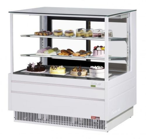 Turbo Air TCGB-48UF-W-N, 48-inch Glass White Refrigerated Bakery Case