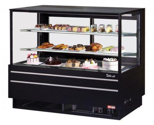Turbo Air TCGB-60UF-B-N, 60-inch Glass Black Refrigerated Bakery Case