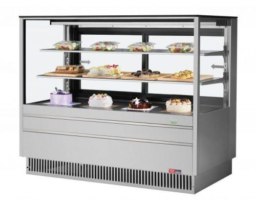 Turbo Air TCGB-60UF-S-N, 60-inch Glass Stainless Steel Refrigerated Bakery Case