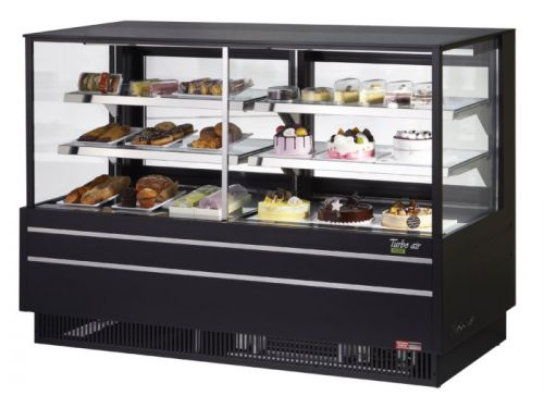 Turbo Air TCGB-72UF-CO-B-N, 72-inch Glass Black Refrigerated Combo Bakery Case
