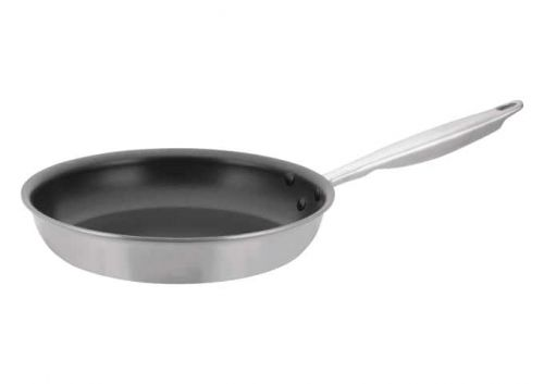 Winco TGFP-10NS, 10-Inch Dia Tri-Ply Stainless Steel Fry Pan w/о Lid, Non Stick, NSF