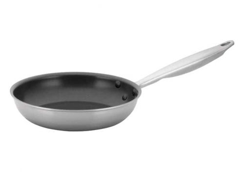 Winco TGFP-8NS, 8-Inch Dia Tri-Ply Stainless Steel Fry Pan w/о Lid, Non Stick, NSF