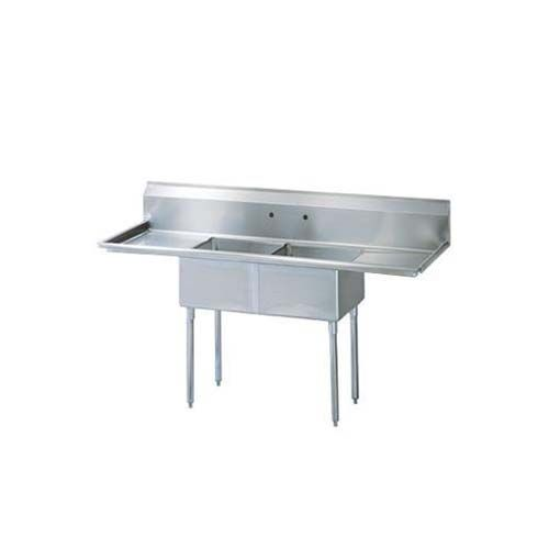 Turbo Air TSA-2-12-D1, 18 x 18 x 12-inch Two Compartment Sinks, Stainless Steel