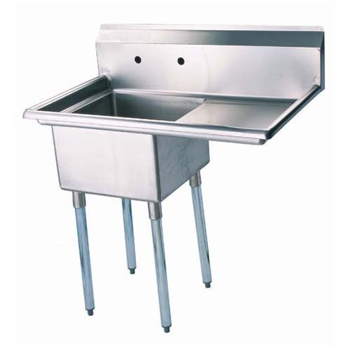 Turbo Air TSB-1-R2, 24 x 24 x 14-inch Two Compartment Sink, Stainless Steel