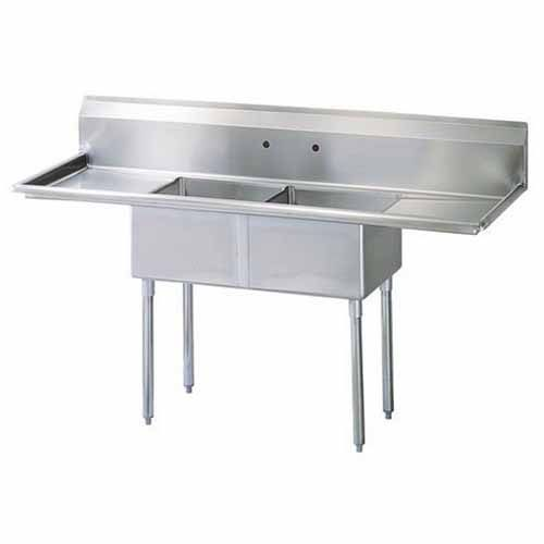 Turbo Air TSC-2-D2, 96-inch Two Compartment Sink, Green World Series