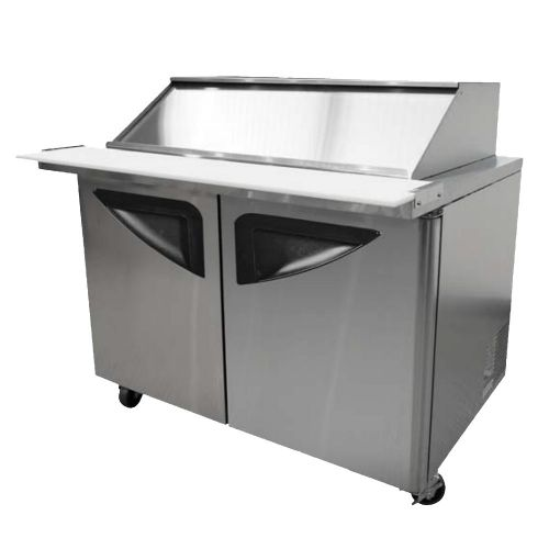 Turbo Air TST-28SD-12-SL, 28-Inch Refregirated 1 Door Mega Top Salad and Sandwich Prep Table with Slide-Back Lid, NSF 7, cETLus