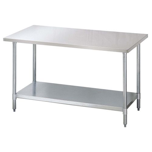 Turbo Air TSW-2496-SS, 96-inch Stainless Steel Work Table with Shelf