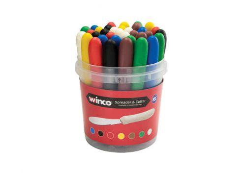 Winco TWP-3135, 3-5/8-Inch Butter Spreader, Polypropylene Handle, Bulk Pack, NSF, 35/CS