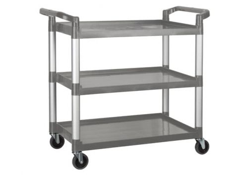 Winco UC-3019G, 40-3/4 x 19-1/2 x 37-3/8-Inch Utility Cart, 3 Tiers, Gray