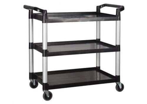 Winco UC-3019K, 40-3/4 x 19-1/2 x 37-3/8-Inch Utility Cart, 3 Tiers, Black