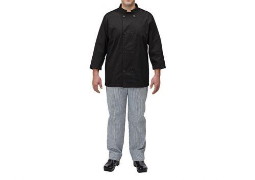 Winco UNF-6KL, Chef Jacket, Black, L