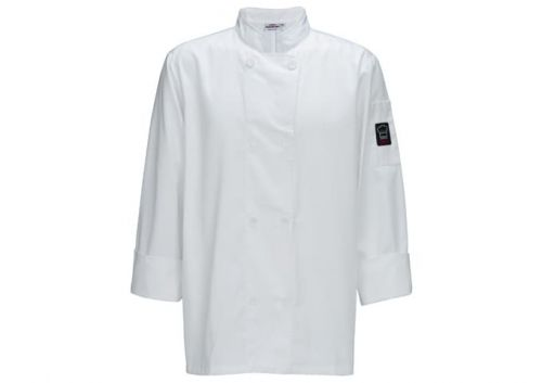 Winco UNF-6WXL White Men's Tapered Fit Chef Jacket, XL, EA
