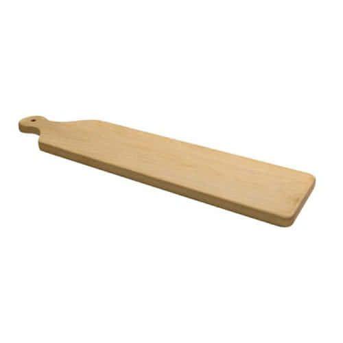Winco WCB-225, 22-1/2L x 5-1/2W x 3/4H-Inch Rectangular French Birchwood Bread Board